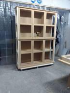βιβλιοθήκη γραφείου , ξυλουργικες εργασιες , επιπλα καταστηματων , ειδικες κατασκευες επιπλων , ξυλου δρυος , ksilou drios