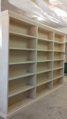 βιβλιοθηκη μασιφ ξυλο κατασκευη
