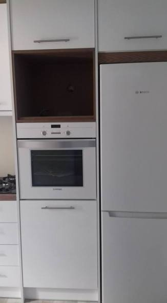 ντουλαπια κουζινας λευκο γυαλιστε